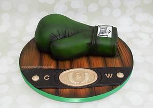 Boxing Glove Cake & Tutorial. - Cake by The Crafty Kitchen - Sarah Garland