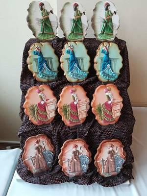 Suknie z końca XIX wieku  - Cake by Beata