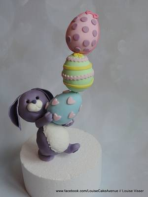 Easter bunny (thanks to rouvelee tutorial!) - Cake by Louise