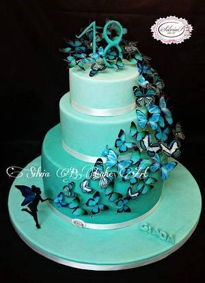 Tiffany butterflies  - Cake by silvia B.cake art