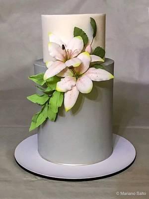 Lirios - Cake by Natalia Casaballe