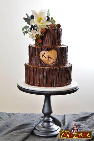 Rustic Tree Wedding Cake - Cake by Nasa Mala Zavrzlama