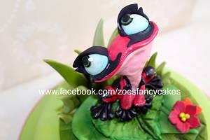 Gabi the frog - Rio 2 cake - Cake by Zoe's Fancy Cakes
