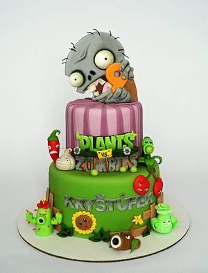Plants vs Zombie cake - Cake by Martina Matyášová