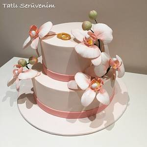 engagement cake - Cake by CakeHeavenTr