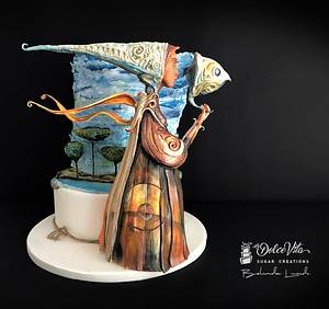 Silent Angel - Italian Sugar Dream - Surrealism Collaboration - Cake by AppoBli Belinda Lucidi