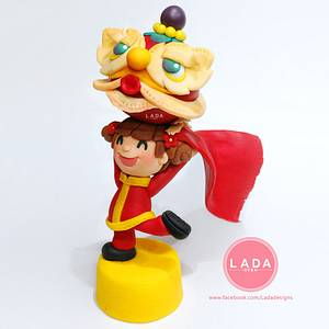 Chinese new year sugar figures - Cake by Ladadesigns