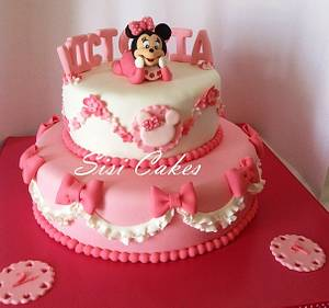 Baby Minnie - Cake by Sisicakes