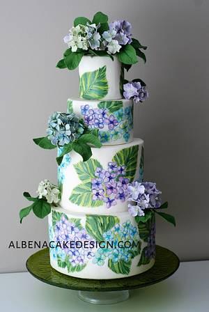 Floral Wedding Cake - Cake by Albena