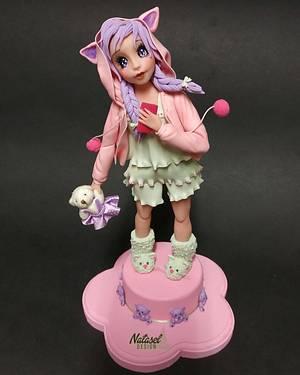 Yoshiko, liberty's child - Cake by L'atelier de Natasel