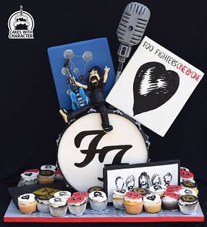 Foo Fighters themed celebration cake - Cake by Jean A. Schapowal