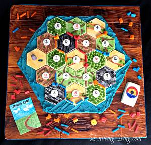 Settlers of Catan cake - Cake by Enticing Icing