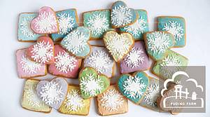 Rustic snowflakes - Cake by PUDING FARM