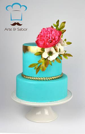 Turquoise Vintage - Cake by José Pablo Vega