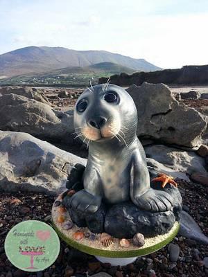 Saoirse- Irish seal - Cake by Aga Leśniak