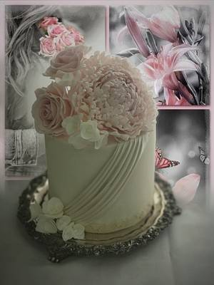 Roses and Peony - Cake by Griselda de Pedro