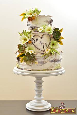 Rustic Wedding Cake - Cake by Nasa Mala Zavrzlama