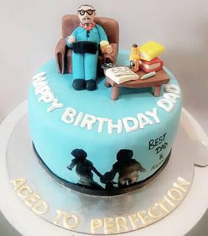 Father' birthday  - Cake by Juhi goyal