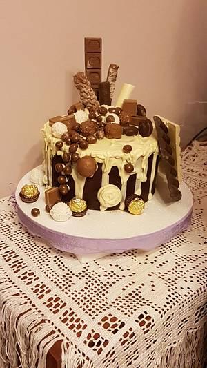 Chocolate Fan Birthday - Cake by Eleonora Laura Mateos