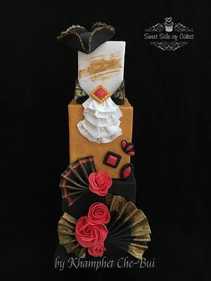 Venetian Costume inspired cake @Venetian Carnival 2017 Collaboration - Cake by Sweet Side of Cakes by Khamphet
