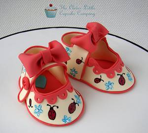 Sugar Baby Shoes - Cake by Amanda's Little Cake Boutique