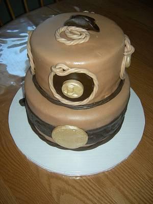 """Cowboy Up"" Auction Cake - Cake by Deanna Dunn"