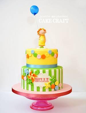 Sweet bunting and pinwheel Birthday cake - Cake by Janette MacPherson Cake Craft