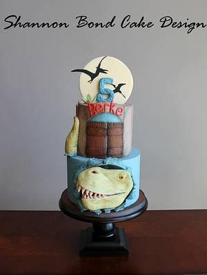 Dinosaur Birthday Cake - Cake by Shannon Bond Cake Design