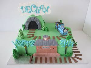 Train themed cake - Cake by Dittle