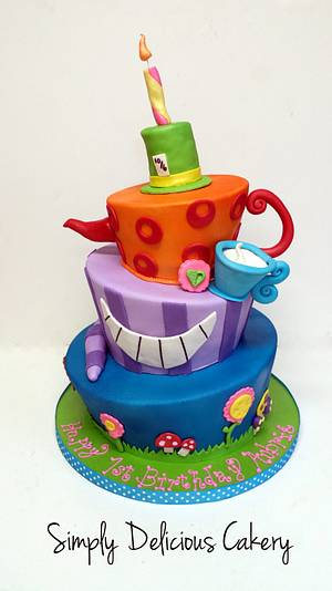Whimsical 1st Birthday - Cake by Simply Delicious Cakery