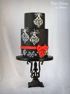 Elegant Christmas Cake - Cake by CakeHeaven by Marlene
