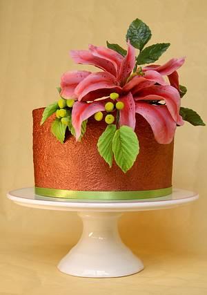 Double Oriental lily - Cake by Katarzynka