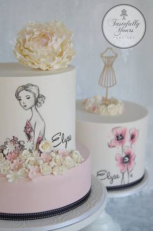 Pretty as a picture - Cake by Marianne: Tastefully Yours Cake Art