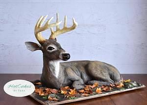 Sculpted Deer Cake  - Cake by HotCakes by Tara