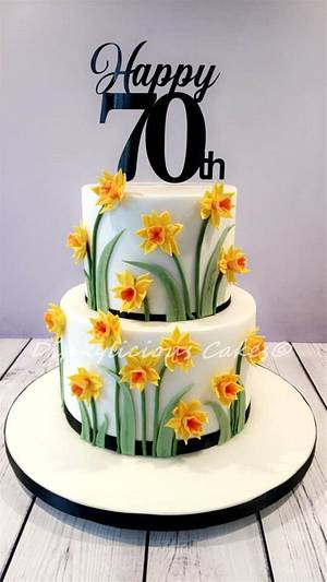 Daffodil Cake - Cake by Dinkylicious Cakes
