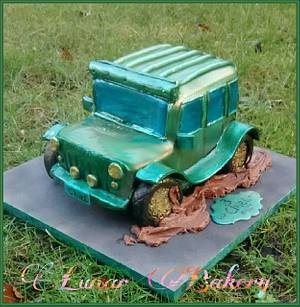 Jeep in the mud Cake - Cake by Lunar Bakery