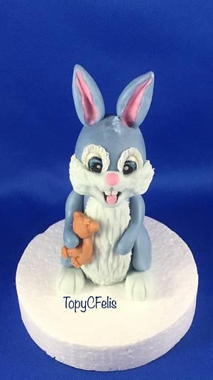 Bunny - cake topper - Cake by Felis Toporascu