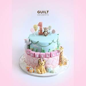 Safari Girl Cake - Cake by Guilt Desserts