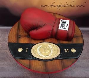 Boxing Glove Cake - Cake by The Crafty Kitchen - Sarah Garland
