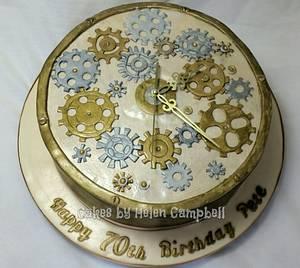Steam punk clock - Cake by Helen Campbell