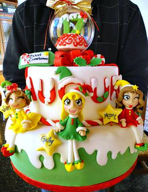 Three Sweets Christmas Twins - Cake by Isabella Coppola di Milky Way