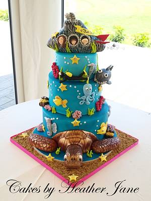 Under the Sea wedding cake - Cake by Cakes By Heather Jane