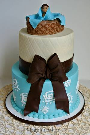 Native American baby shower cake - Cake by Magda's cakes