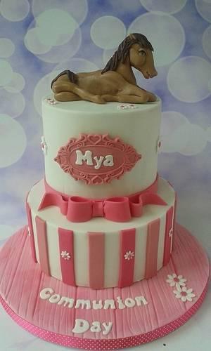 Horsey communion cake - Cake by Jenny Dowd