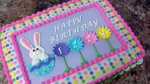 Easter themed birthday cake - Cake by subwaygirl23