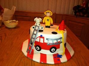 Fireman Birthday Cake - Cake by Maureen