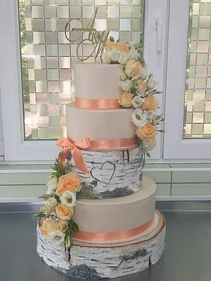 Rustic wedding cake - Cake by Ivaninislatkisi