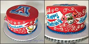University of Arizona Dia De Los Muertos - Cake by lorieleann