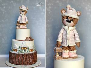 Winter Bear - Cake by Lorna