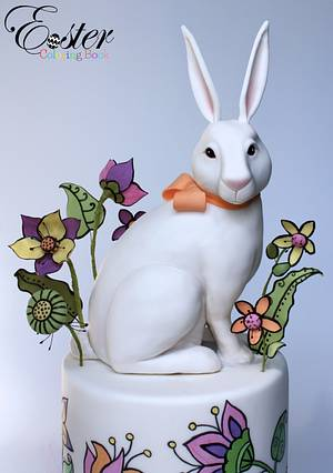 The White Rabbit- Easter Coloring Book Cake Collaboration - Cake by Very Unique Cakes by Veronique
